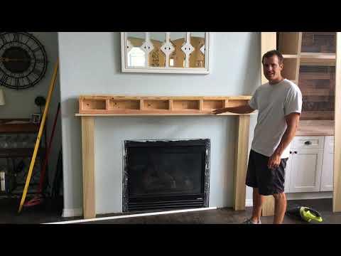 Easy Yet Elegant Fireplace Mantle