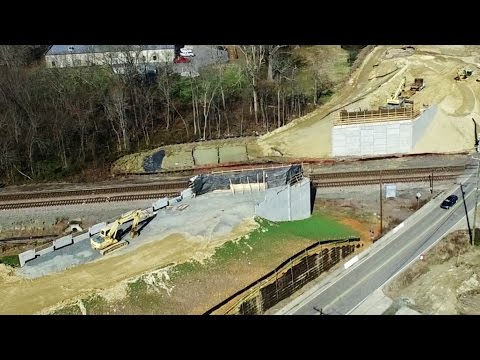 Updated Aerial View of NCDOT Grade Separated Crossing Construction - McLeansville, NC