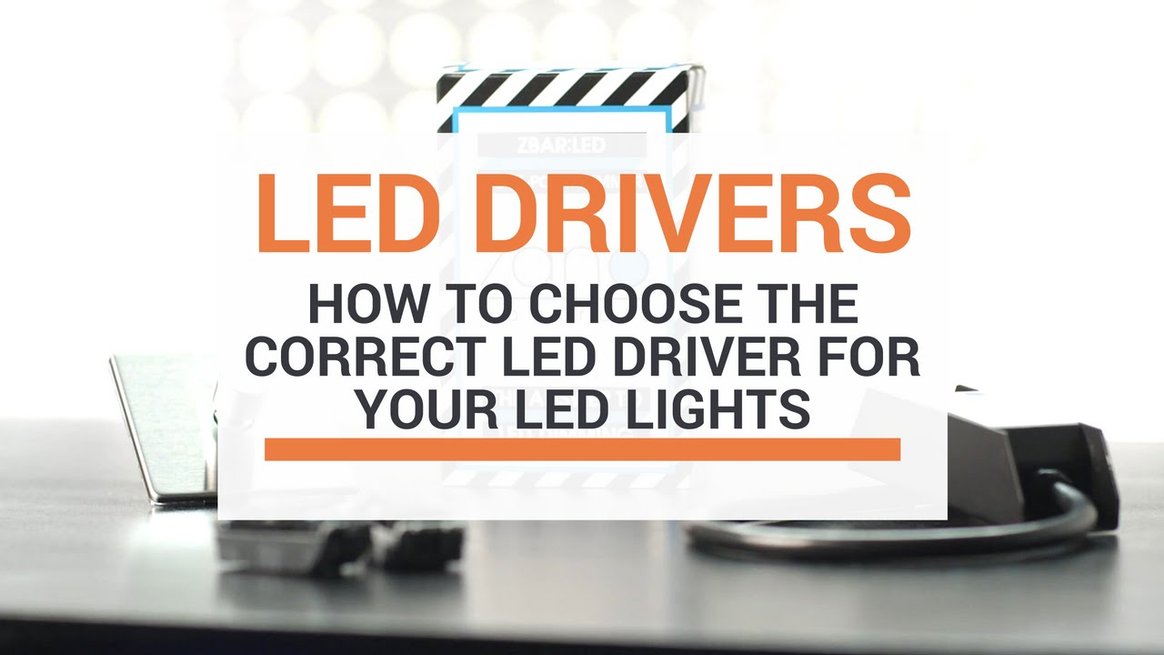 How To Choose The Correct Led Driver For Your Lights Youtube 12v Drive 7 High Efficiency White Flashlight