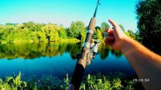 Рыбалка на макушатник с пенопластом. День рыбака.