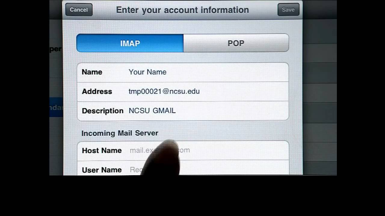 Google Apps @ NC State - Configuring Gmail for iPhone OS