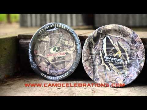 Camo Party Supplies - Paper Plates Comparison