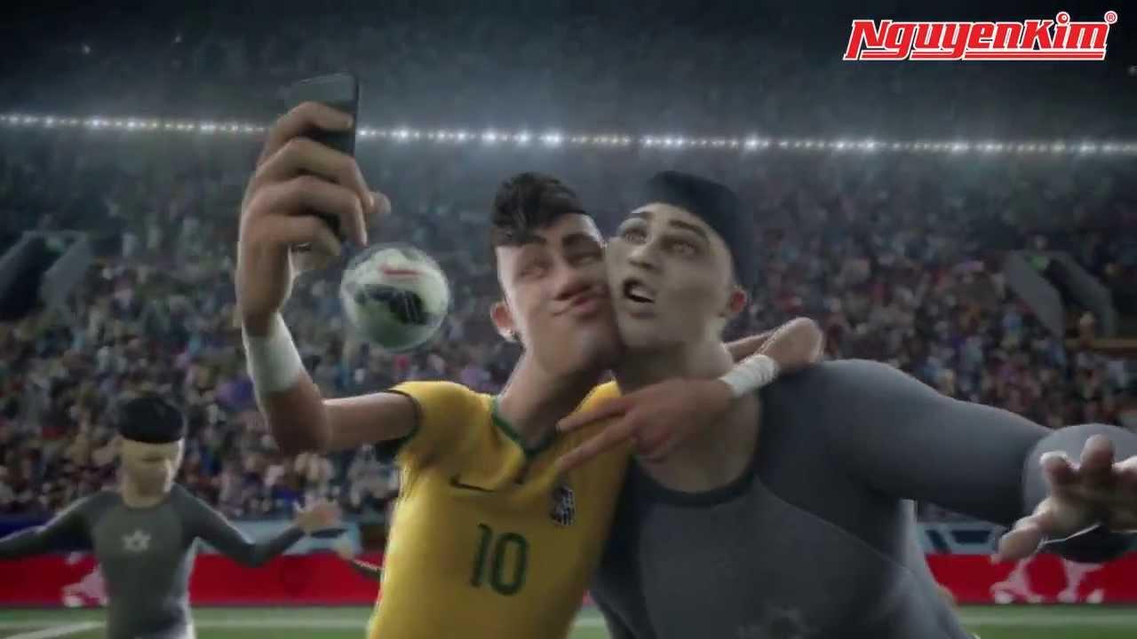 Nike dựng phim hoạt hình bóng đá hay nhất chào worldcup 2014 với toàn siêu sao