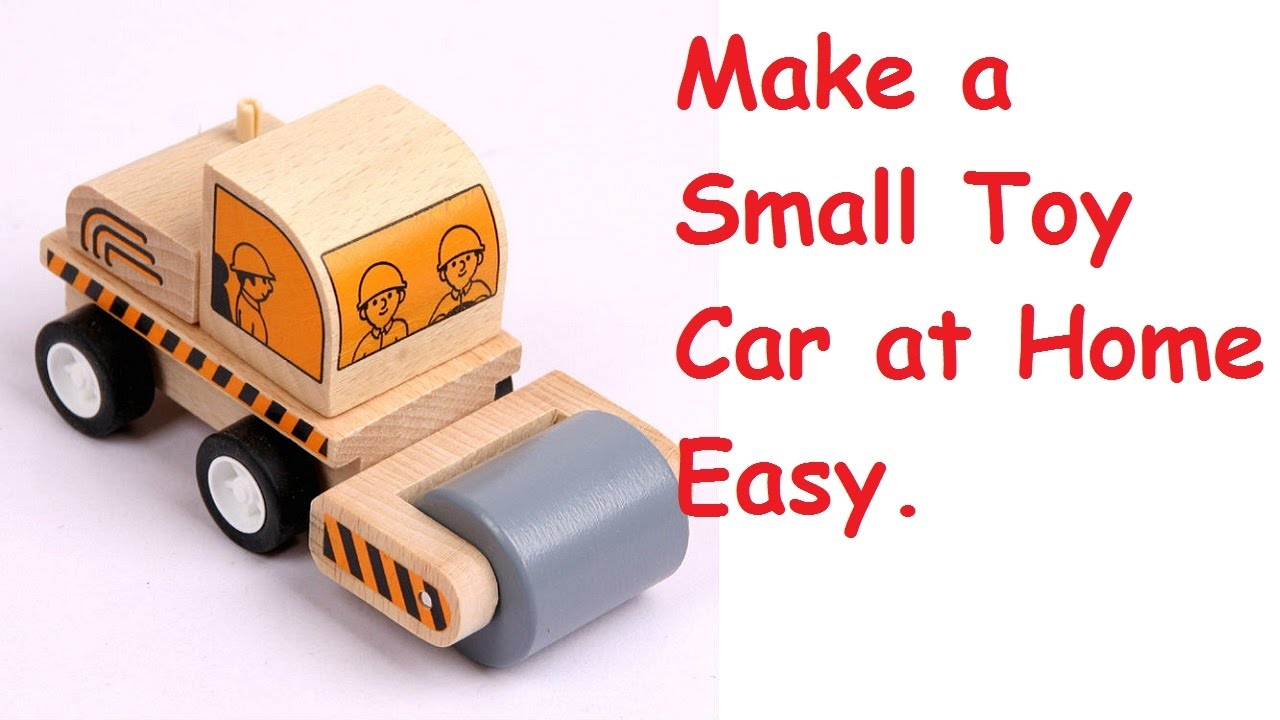 How to make a simple toy car at home using bottle caps for How to create a motor