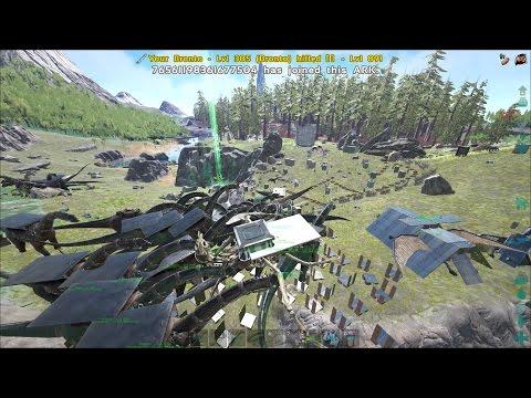 ARK Most Insane Bronto Push Ever 300+ Official Server 1 Defense PVP