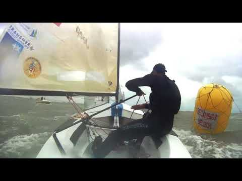 All downhill for Jonathan Lobert in the 2018 Europeans medal race