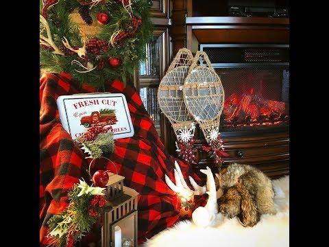 ~DOLLAR TREE DIY- CHRISTMAS CABIN SNOWSHOES- Christmas Lodge Decor~