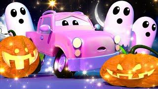 儿童卡车动画— 宝贝们跟鬼对话 -汽车城的宝贝们
