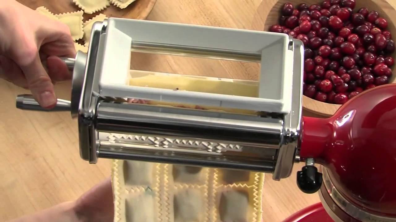 Kitchenaid 174 Stand Mixer Attachment Ravioli Maker Youtube