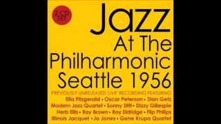 Jazz at the Philharmonic, Seattle 1956, Gene Krupa Quartet, EddieShu, Bernie