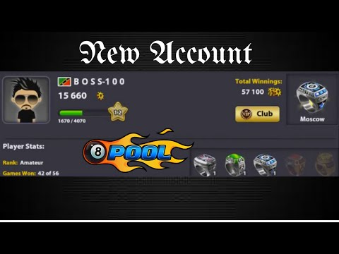 New Account- 8 ball pool by MINICLIP