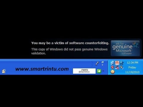 you may be a victim of software counterfeiting windows (xp/7)