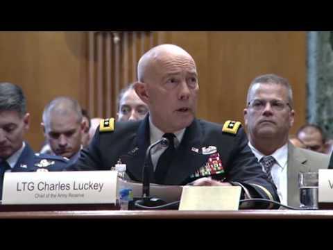 Guard, Reserve Officials Testify at Senate Hearing