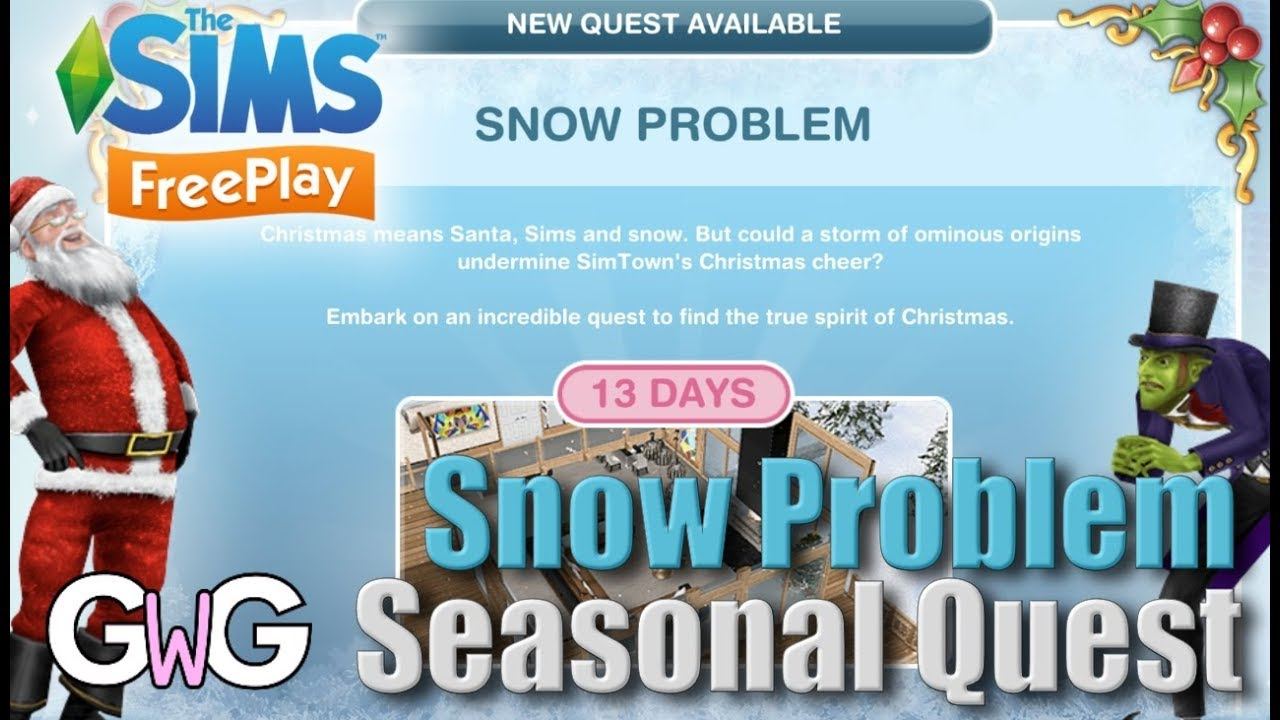 The Sims Freeplay- Snow Problem Quest – The Girl Who Games