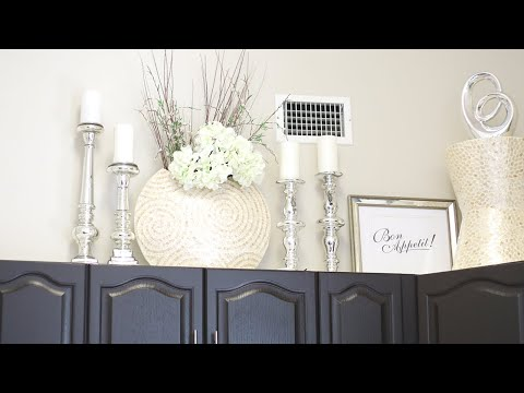 DECORATE WITH ME|ABOVE MY KITCHEN CABINETS