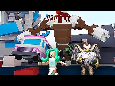 【屌德斯&小熙】 Roblox怪兽战争模拟器 搞笑兄妹大战巨型按钮怪兽!