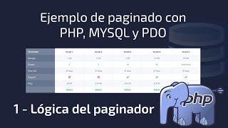 Ejemplo de paginado con PHP MYSQL y PDO - 1 Logica del paginador