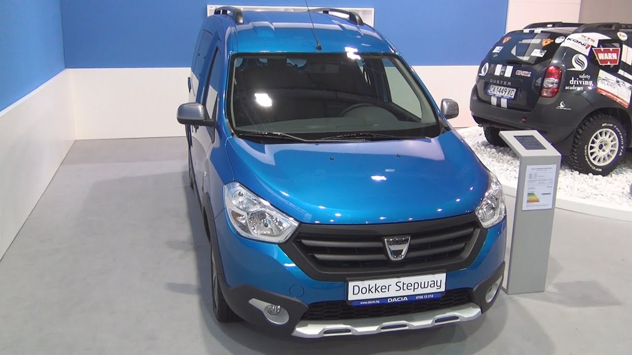 dacia dokker stepway dci 90 2016 exterior and interior in 3d youtube. Black Bedroom Furniture Sets. Home Design Ideas