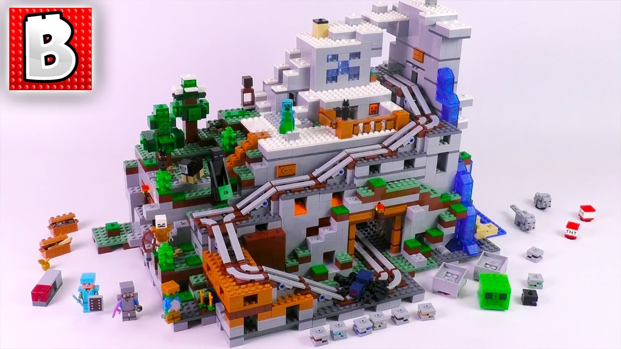 Biggest LEGO Minecraft Set Ever Made!!! Mountain Cave 8!  Unbox Build  Time Lapse Review