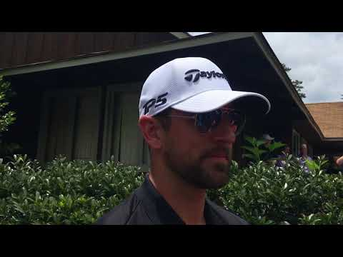 Green Bay QB Aaron Rodgers at the BMW Charity Pro-Am