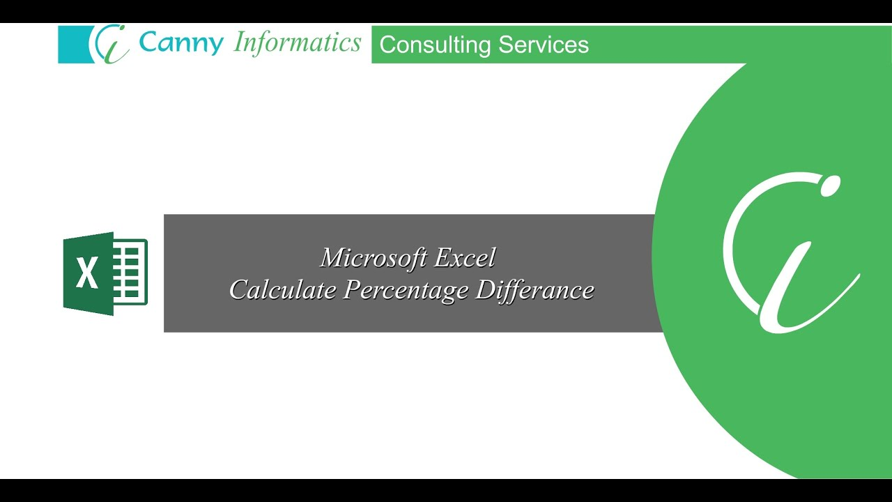 How to calculate percentage variance between two values in Ms Excel