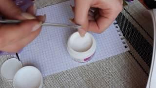 Укрепление ноготков акриловой пудрой и выравнивание базой