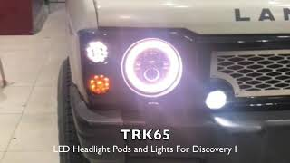 Tuff-Rok TRK65 LED Headlights and Pods for Land Rover Discovery I