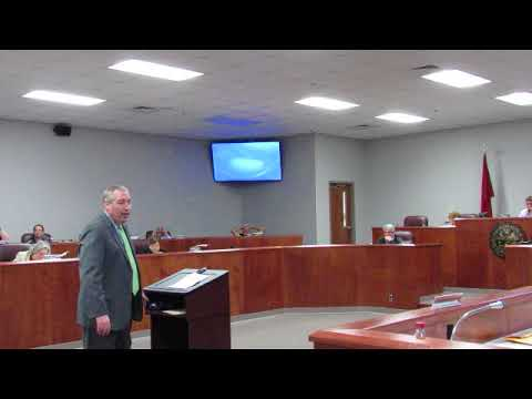 District Attorney Craig Northcott addresses CC commission concerning courthouse security 041018