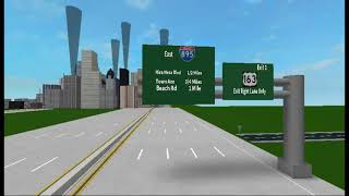 My I-7 Freeway i have made in Roblox (CA) Eit 1 - 12