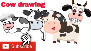 #Drawingacow A cow which is produced milk like a fresh milk| cow drawing