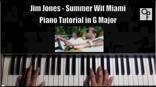 "Jim Jones Feat Trey Songz ""Summer Wit Miami"" Piano Tutorial Easy to Learn !!"