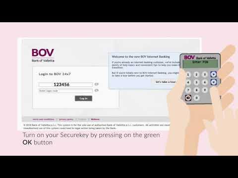 Using your BOV Securekey to log into BOV Internet Banking
