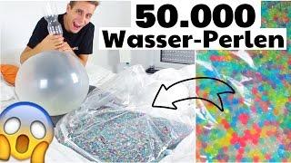 Ich baue ein Wasserbett aus 50.000 GLIBBER - KUGELN :O | Julienco thumbnail