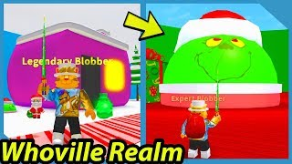 NEW WHOVILLE WORLD AND GRINCH BOSS IN ROBLOX BLOB SIMULATOR UPDATE!!