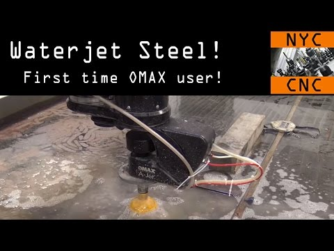 CNC Waterjet Cutting Steel! Widget80