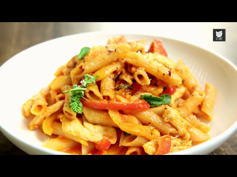 Penne Arrabiata Recipe | Italian Recipe | Pasta Recipes | Chicken Pasta Recipe by Varun Inamdar
