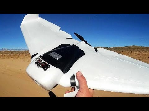 ZOHD Orbit Flying Wing with Gyro Stabilization Flight Test Review