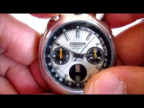 Citizen Bull Head Chronograph how to change day date