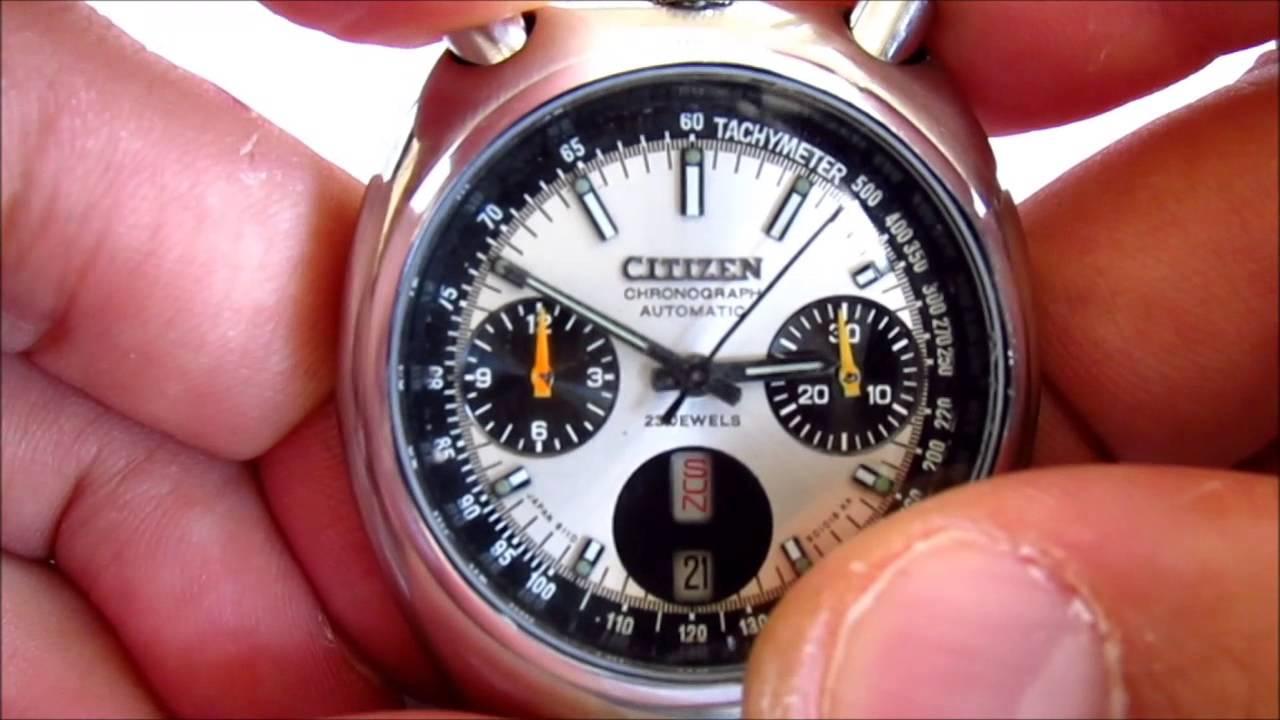 18cfdf89c Citizen Bull Head Chronograph how to change day date - YouTube