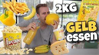 Ich esse 2kg GELBE Lebensmittel 🤢