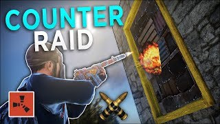 COUNTERING AND SILENT RAIDING MY NEIGHBOUR! - Rust Solo Survival #5