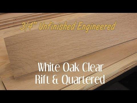 White Oak Clear Rift+Quartered Engineered Hardwood