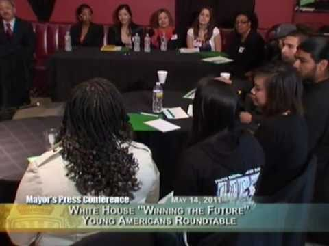"""Mayor Lee @ White House """"Winning the Future"""" Young Americans Roundtable."""
