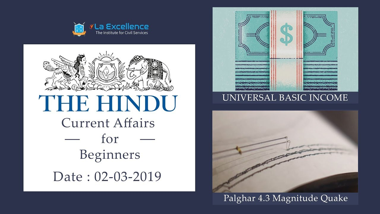 Download 2nd March,2019 The Hindu Current Affairs for Beginners (CORE) by La Excellence  civilsprep