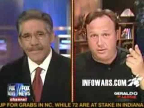 "Geraldo covers DC Madam ""suicide"" w/Alex Jones 5/3/08"