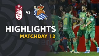 Highlights Granada CF vs Real Sociedad (1-2)
