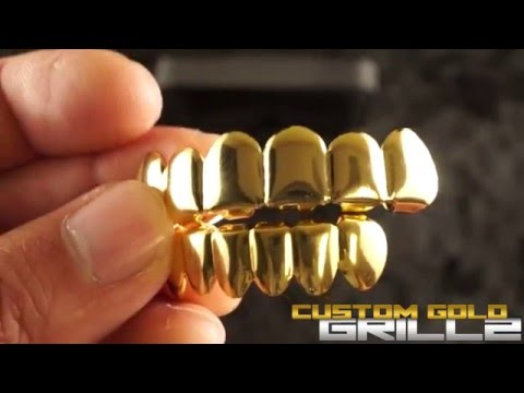 14k Gold 6 Tooth Grills by Custom Gold Grillz - YouTube 59ae52055
