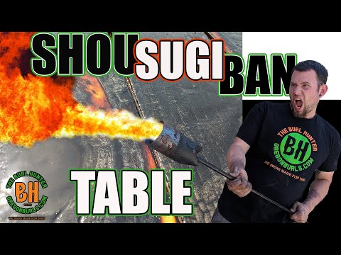 Shou Sugi Ban Furniture! 2019 DIY Shou Sugi Ban Dining Room Table! #Shousugiban