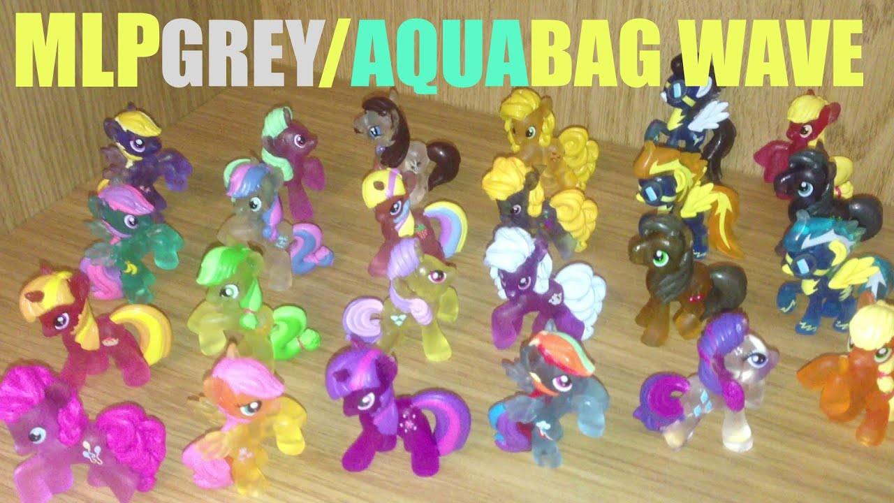 Review 018 My Little Pony Blind Bag Grey Aqua Wave 24 Pony