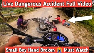 Live Dangerous Accident Infront Of Me😨 | Kids Rideing Bike And Crashed With Cycle | Full Video